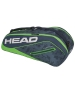 Head Tour Team 6R Combi Tennis Bag (Navy/Green) - Head Tour Team Backpack and Bag Series