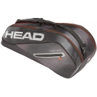 Head Tour Team 6R Combi Tennis Bag (Black/Silver) - Head Tennis Bags