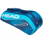 Head Tour Team 6R Combi Tennis Bag (Navy/Blue) - Head Tennis Bags