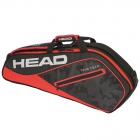 Head Tour Team 3R Pro Tennis Bag (Black/Red) - 3 Racquet Tennis Bags