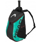 Head Tour Team Tennis Backpack (Black/Teal) - Tennis Bags on Sale