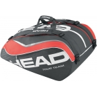 Head Tour Team 12 Pk Monstercombi Tennis Bag (Black/ Coral) - Head