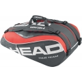 Head Tour Team 9 Pk Supercombi Tennis Bag (Black/ Coral)
