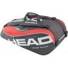 Head Tour Team 9 Pk Supercombi Tennis Bag (Black/ Coral) - Head Tennis Bags