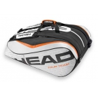 Head Tour Team 12 Pk Monstercombi Tennis Bag (Silver/Black) - 7 Racquet Tennis Bags