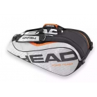 Head Tour Team 9 Pk Supercombi Tennis Bag (Silver/Black) - 7 Racquet Tennis Bags