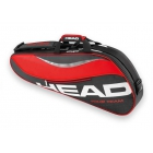 Head Tour Team 3 Pk Pro Tennis Bag (Red/Black) - 3 Racquet Tennis Bags