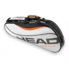 Head Tour Team 3 Pk Pro Tennis Bag (Silver/Black) - 3 Racquet Tennis Bags
