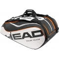 Head Tour Team Monstercombi Tennis Bag (Blk/ Wht/ Org)
