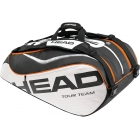 Head Tour Team Monstercombi Tennis Bag (Blk/ Wht/ Org) - Tennis Racquet Bags