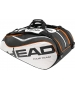 Head Tour Team Monstercombi Tennis Bag (Blk/ Wht/ Org) - New Head Racquets, Bags, and Hats