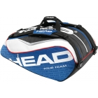 Head Tour Team Monstercombi Tennis Bag (Nvy/ Wht/ Red) - Tennis Racquet Bags