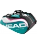 Head Tour Team Monstercombi Tennis Bag (Teal/ Wht/ Pnk) - New Head Racquets, Bags, and Hats