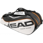 Head Tour Team Combi Bag (Blk/ Wht/ Org) - Tennis Racquet Bags