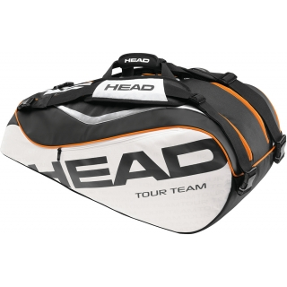 Head Tour Team Combi Tennis Bag (Blk/ Wht/ Org)