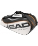 Head Tour Team Combi Bag (Blk/ Wht/ Org) - 6 Racquet Tennis Bags