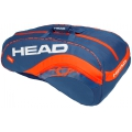 Head Radical 12R Monstercombi Tennis Bag (Navy Blue/Orange)