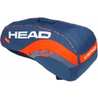 Head Radical 6R Combi Tennis Bag (Navy Blue/Orange) - Head Tennis Bags
