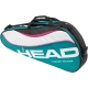 Head Tour Team Pro Tennis Bag (Teal/ Wht/ Pnk) - 3 Racquet Tennis Bags