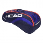 Head Radical 6R Combi Tennis Bag (Blue/Orange) - Head Radical Series Tennis Racquet Bags