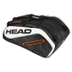 Head Tour Team 12R Monstercombi Tennis Bag (Black/White) - Head Tour Team Backpack and Bag Series