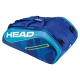 Head Tour Team 12R Monstercombi Tennis Bag (Blue/Blue) - Head Tour Team Backpack and Bag Series
