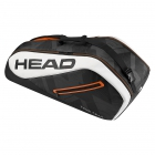 Head Tour Team 6R Combi Tennis Bag (Black/White) - 6 Racquet Tennis Bags