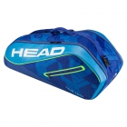 Head Tour Team 6R Combi Tennis Bag (Blue/Blue) - Head Tennis Bags
