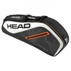 Head Tour Team 3R Pro Tennis Bag (Black/White) - 3 Racquet Tennis Bags