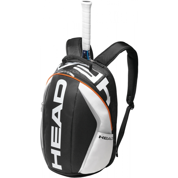 Head Tour Team Tennis Backpack (Blk/ Wht/ Org)