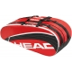 Head Core Combi Tennis Bag (Red/ Blk) - Head Core Series Tennis Bags