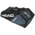 Head Core Combi Tennis Bag (Black/White/Grey) - 6 Racquet Tennis Bags