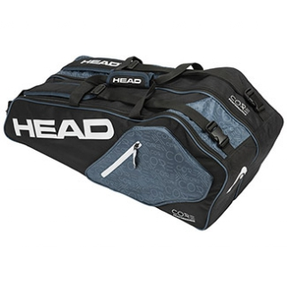 Head Core Combi Tennis Bag (Black/White/Grey)