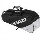 Head Elite 6R Combi Tennis Bag (Black/White) -