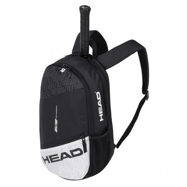 Head Elite Tennis Backpack (Black/White)