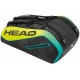 Head Extreme 12R Monstercombi Tennis Bag (Black/Yellow) - 9 and 12+ Racquet Tennis Bags
