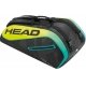Head Extreme 9R Supercombi Tennis Bag (Black/Yellow) - 9 and 12+ Racquet Tennis Bags