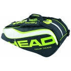 Head Extreme Monstercombi Tennis Bag (Black/ Green/ White) - Head Extreme Series Tennis Bags
