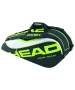 Head Extreme Combi Tennis Bag (Black/ Green/ White) - Head Extreme Series Tennis Bags