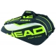 Head Extreme Combi Tennis Bag (Black/ Green/ White) - 6 Racquet Tennis Bags