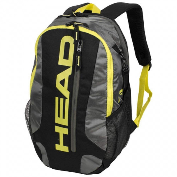 Head Elite Pickleball / Racquetball Backpack (Black/Neon Yellow)
