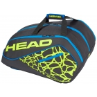 Head Tour Team Supercombi Pickleball Bag (Black/Neon Yellow/Blue) - Tennis Court Equipment