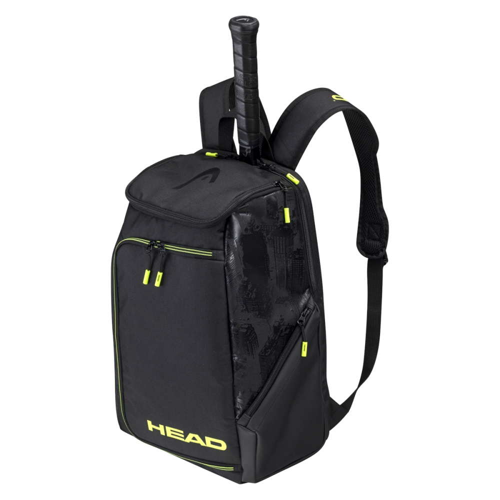 284141 Head Extreme Nite Tennis Backpack (Black/Neon Yellow)