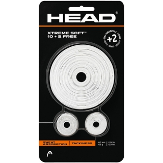 Head Xtreme Soft 10 + 2 Over Grip (White)