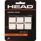 Head Prime Tour Tennis Racquet Overgrip 3 pack (White) -