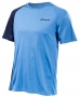 Babolat Boy's Performance Crew Neck Tennis Tee (Parisian Blue/Black) - NEW: Babolat Performance Tennis Apparel for Men, Women & Juniors