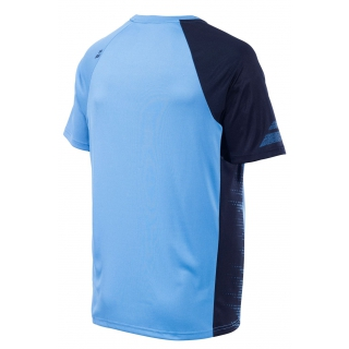 Babolat Boy's Performance Crew Neck Tennis Tee (Parisian Blue/Black)