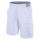 Babolat Boy's Performance XLong Tennis Short (White/White) - Boy's Tennis Apparel