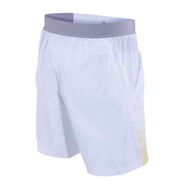 Babolat Boy's Performance Tennis Short (White/Dark Yellow)