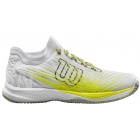 Wilson Men's Kaos 2.0 SFT Tennis Shoes (White/Safety Yellow/Ebony) - Lightweight Tennis Shoes